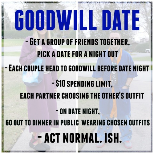 Image result for goodwill date night